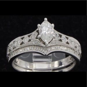 Jewelry - Marquis cut diamond engagement ring set